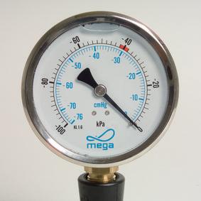 Tyhjömittari 100 mm nestevaimennettu RST