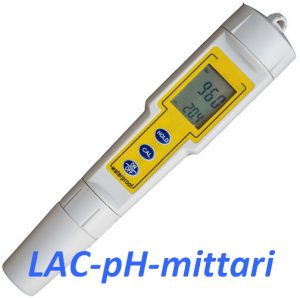 LAC-pH meter with temperature