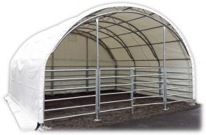 PVC Cattle halls and arch tents
