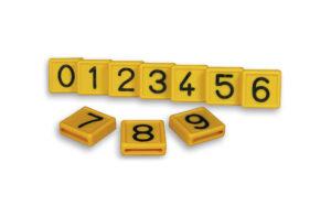 Numerolaatat 40 mm kaulapantaan